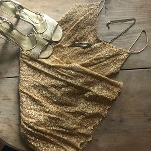 Vintage Couture! Betsey Johnson Gold Dress!